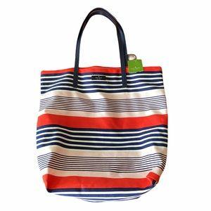 NWTS Kate Spade Pink & Navy Bon Shopper Tote Bag